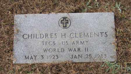CLEMENTS (VETERAN WWII), CHILDERS H - Lawrence County, Arkansas | CHILDERS H CLEMENTS (VETERAN WWII) - Arkansas Gravestone Photos