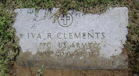 CLEMENTS (VETERAN WWII), IVA R - Lawrence County, Arkansas | IVA R CLEMENTS (VETERAN WWII) - Arkansas Gravestone Photos