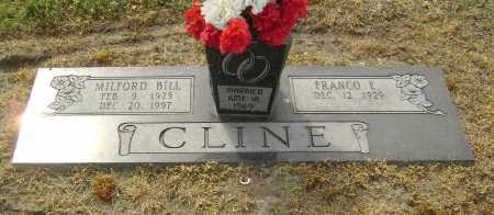 LINGO CLINE, FRANCO E. - Lawrence County, Arkansas | FRANCO E. LINGO CLINE - Arkansas Gravestone Photos