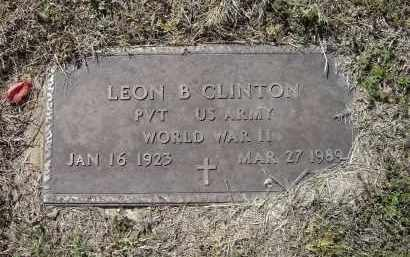 CLINTON (VETERAN WWII), LEON BROOKS - Lawrence County, Arkansas | LEON BROOKS CLINTON (VETERAN WWII) - Arkansas Gravestone Photos