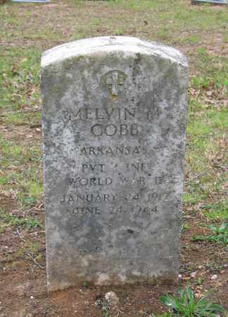 COBB (VETERAN WWII), MELVIN M - Lawrence County, Arkansas | MELVIN M COBB (VETERAN WWII) - Arkansas Gravestone Photos