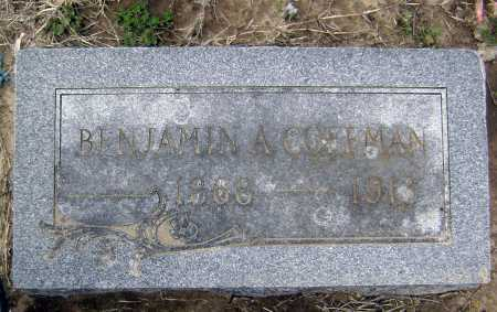 COFFMAN, BENJAMIN ALLEN - Lawrence County, Arkansas | BENJAMIN ALLEN COFFMAN - Arkansas Gravestone Photos