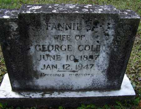 "MCCLURE COLE, FRANCES J. ""FANNY"" - Lawrence County, Arkansas 