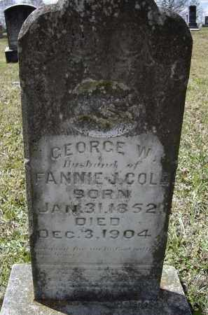 COLE, JR., GEORGE WASHINGTON - Lawrence County, Arkansas | GEORGE WASHINGTON COLE, JR. - Arkansas Gravestone Photos