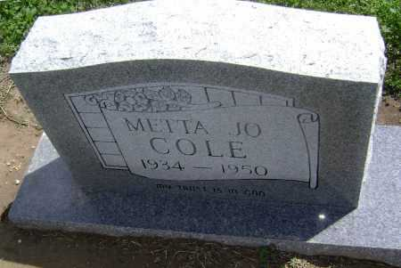 COLE, METTA JO - Lawrence County, Arkansas | METTA JO COLE - Arkansas Gravestone Photos