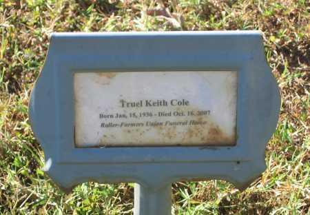 COLE, SR., TRUEL KEITH - Lawrence County, Arkansas | TRUEL KEITH COLE, SR. - Arkansas Gravestone Photos