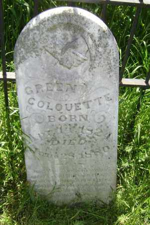 COLQUETTE, GREEN - Lawrence County, Arkansas | GREEN COLQUETTE - Arkansas Gravestone Photos