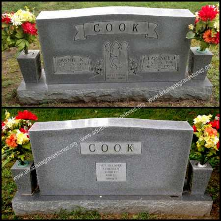 COOK, CLARENCE J. - Lawrence County, Arkansas | CLARENCE J. COOK - Arkansas Gravestone Photos