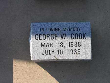 COOK, GEORGE W. - Lawrence County, Arkansas | GEORGE W. COOK - Arkansas Gravestone Photos