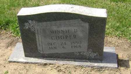 COOPER, MINNIE D. - Lawrence County, Arkansas | MINNIE D. COOPER - Arkansas Gravestone Photos