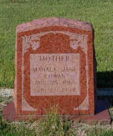 SPHERES COWAN, MAHALA JANE - Lawrence County, Arkansas | MAHALA JANE SPHERES COWAN - Arkansas Gravestone Photos