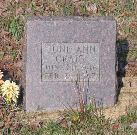 CRAIG, JUNE ANN - Lawrence County, Arkansas | JUNE ANN CRAIG - Arkansas Gravestone Photos