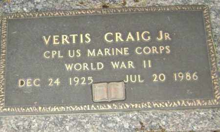 CRAIG, JR  (VETERAN WWII), VERTIS - Lawrence County, Arkansas | VERTIS CRAIG, JR  (VETERAN WWII) - Arkansas Gravestone Photos