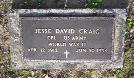 CRAIG (VETERAN WWII), JESSE DAVID - Lawrence County, Arkansas | JESSE DAVID CRAIG (VETERAN WWII) - Arkansas Gravestone Photos