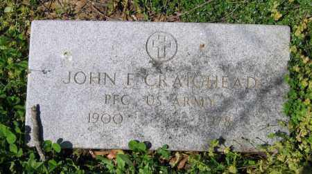 CRAIGHEAD (VETERAN), JOHN F - Lawrence County, Arkansas | JOHN F CRAIGHEAD (VETERAN) - Arkansas Gravestone Photos