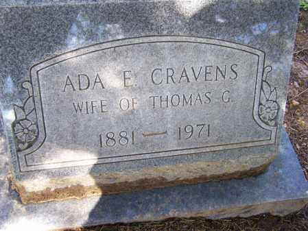 CRAVENS, ADA ELIZABETH - Lawrence County, Arkansas | ADA ELIZABETH CRAVENS - Arkansas Gravestone Photos