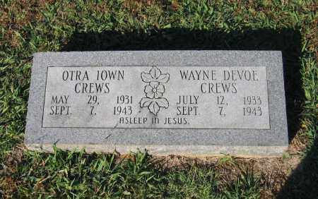 CREWS, OTRA IOWN - Lawrence County, Arkansas | OTRA IOWN CREWS - Arkansas Gravestone Photos