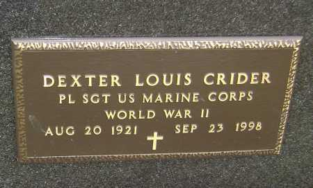 CRIDER  (VETERAN WWII), DEXTER LOUIS - Lawrence County, Arkansas | DEXTER LOUIS CRIDER  (VETERAN WWII) - Arkansas Gravestone Photos