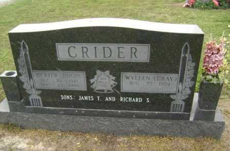 CRIDER, DEXTER LOUIS - Lawrence County, Arkansas | DEXTER LOUIS CRIDER - Arkansas Gravestone Photos