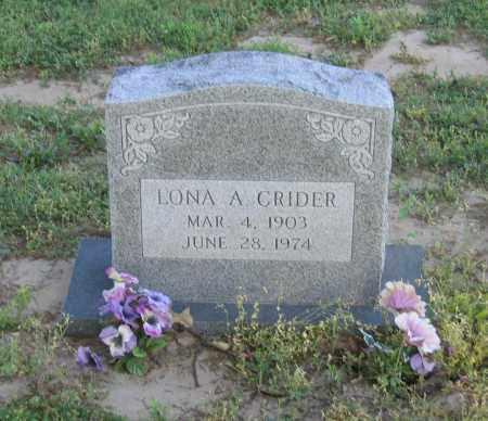 CRIDER, LONA A. - Lawrence County, Arkansas | LONA A. CRIDER - Arkansas Gravestone Photos