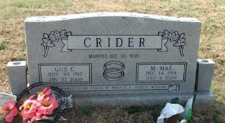 CRIDER (VETERAN WWII), GUS C. - Lawrence County, Arkansas | GUS C. CRIDER (VETERAN WWII) - Arkansas Gravestone Photos