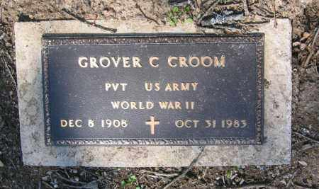 CROOM (VETERAN WWII), GROVER CLEVELAND - Lawrence County, Arkansas | GROVER CLEVELAND CROOM (VETERAN WWII) - Arkansas Gravestone Photos