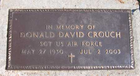 CROUCH (VETERAN), DONALD DAVID - Lawrence County, Arkansas | DONALD DAVID CROUCH (VETERAN) - Arkansas Gravestone Photos