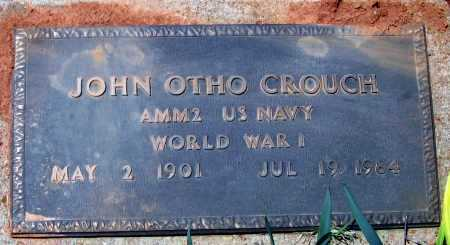 CROUCH (VETERAN WWI), JOHN OTHO - Lawrence County, Arkansas | JOHN OTHO CROUCH (VETERAN WWI) - Arkansas Gravestone Photos