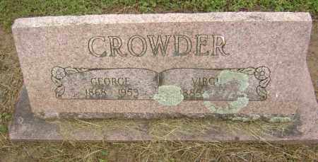 CROWDER, GEORGE - Lawrence County, Arkansas | GEORGE CROWDER - Arkansas Gravestone Photos
