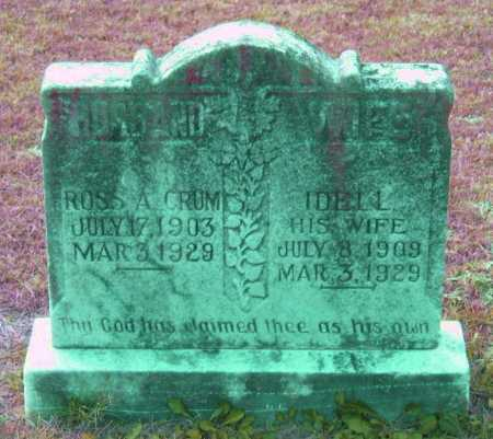 CRUM, ROSS A. - Lawrence County, Arkansas | ROSS A. CRUM - Arkansas Gravestone Photos