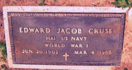 CRUSE (VETERAN WWI), EDWARD JACOB - Lawrence County, Arkansas | EDWARD JACOB CRUSE (VETERAN WWI) - Arkansas Gravestone Photos