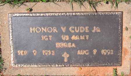 CUDE, JR. (VETERAN KOR), HONOR V. - Lawrence County, Arkansas | HONOR V. CUDE, JR. (VETERAN KOR) - Arkansas Gravestone Photos