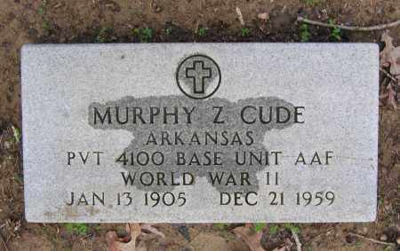 CUDE (VETERAN WWII), MURPHY Z - Lawrence County, Arkansas | MURPHY Z CUDE (VETERAN WWII) - Arkansas Gravestone Photos