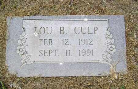CULP, LOU B. - Lawrence County, Arkansas | LOU B. CULP - Arkansas Gravestone Photos