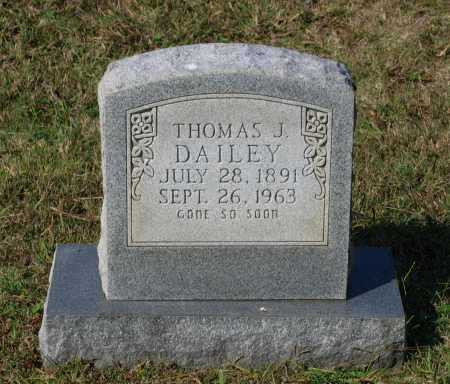 DAILEY, THOMAS J. - Lawrence County, Arkansas | THOMAS J. DAILEY - Arkansas Gravestone Photos