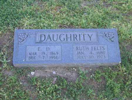 DAUGHRITY, E. D. - Lawrence County, Arkansas | E. D. DAUGHRITY - Arkansas Gravestone Photos