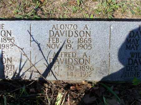 DAVIDSON, ALONZO A. - Lawrence County, Arkansas | ALONZO A. DAVIDSON - Arkansas Gravestone Photos