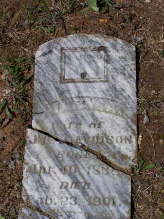 GIBSON DAVIDSON, MARY A. - Lawrence County, Arkansas | MARY A. GIBSON DAVIDSON - Arkansas Gravestone Photos