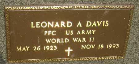 DAVIS  (VETERAN WWII), LEONARD A. - Lawrence County, Arkansas | LEONARD A. DAVIS  (VETERAN WWII) - Arkansas Gravestone Photos