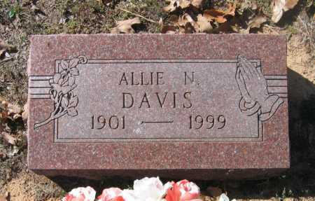 "DAVIS, ALETHEA ETHEL ""ALLIE"" - Lawrence County, Arkansas 