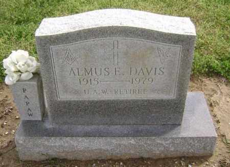 DAVIS, ALMUS E. - Lawrence County, Arkansas | ALMUS E. DAVIS - Arkansas Gravestone Photos