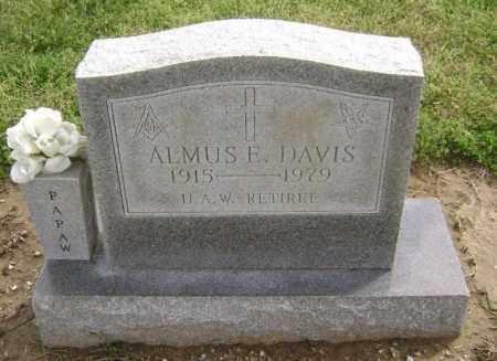 DAVIS, ALMUS E. - Lawrence County, Arkansas | ALMUS E. DAVIS - Arkansas Gravestone Photos