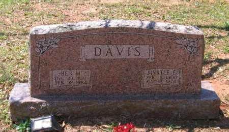 DAVIS, MYRTLE ETTA - Lawrence County, Arkansas | MYRTLE ETTA DAVIS - Arkansas Gravestone Photos