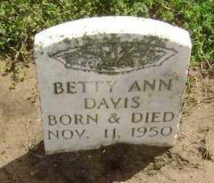 DAVIS, BETTY ANN - Lawrence County, Arkansas | BETTY ANN DAVIS - Arkansas Gravestone Photos
