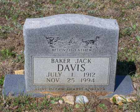 DAVIS, SR., BAKER JACK - Lawrence County, Arkansas | BAKER JACK DAVIS, SR. - Arkansas Gravestone Photos
