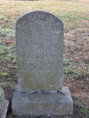 DAVIDSON DAVIS, CORA L. - Lawrence County, Arkansas | CORA L. DAVIDSON DAVIS - Arkansas Gravestone Photos