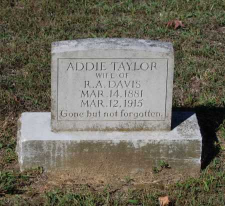 TAYLOR DAVIS, DELILAH ADDIE - Lawrence County, Arkansas   DELILAH ADDIE TAYLOR DAVIS - Arkansas Gravestone Photos