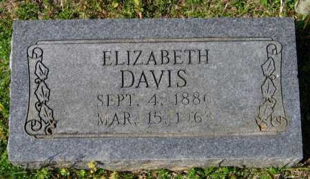DAVIS, ELIZABETH - Lawrence County, Arkansas | ELIZABETH DAVIS - Arkansas Gravestone Photos