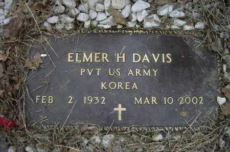 DAVIS (VETERAN KOR), ELMER H. - Lawrence County, Arkansas | ELMER H. DAVIS (VETERAN KOR) - Arkansas Gravestone Photos