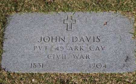 DAVIS (VETERAN CSA), JOHN M. - Lawrence County, Arkansas | JOHN M. DAVIS (VETERAN CSA) - Arkansas Gravestone Photos